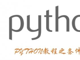 PYTHON教程之条件语句if判断