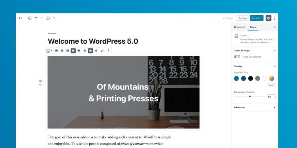 WordPress 5.0发布及功能介绍
